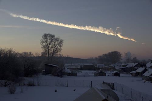 Jejak Meteor Chelyabinsk