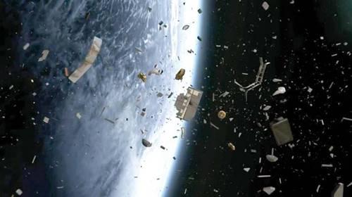 Sampah satelit dan puing sisa misi luar angkasa di orbit bumi