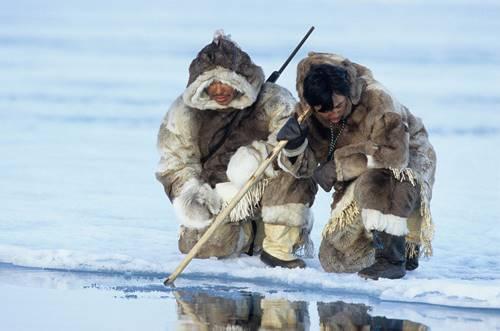 suku eskimo berburu ikan