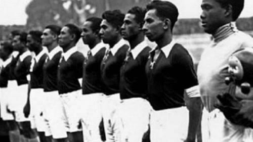 tim Hindia Belanda yang merupakan tim Asia pertama di Piala Dunia 1938