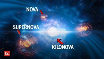 Perbedaan Nova Supernova Hipernova dan Kilonova