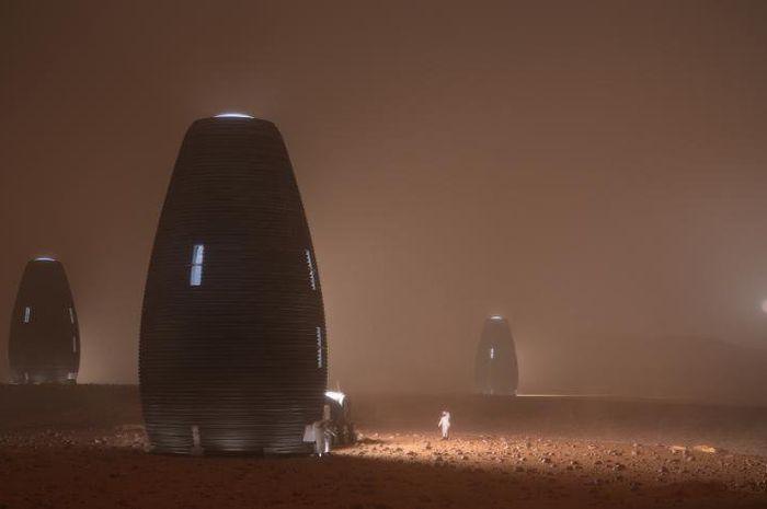 Model MARSHA, rumah Mars yang diciptakan dengan teknologi dari AI SpaceFactory.