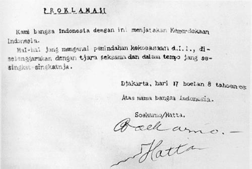 Teks naskah proklamasi