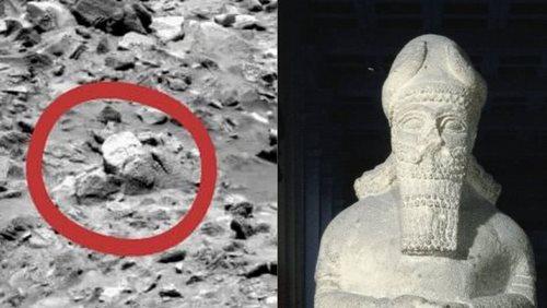 foto aneh di mars mirip wajah dewa