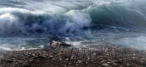 Gambar bencana alam Tsunami