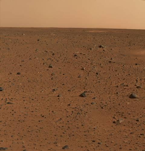 Foto Berwarna Pertama di Mars oleh MER