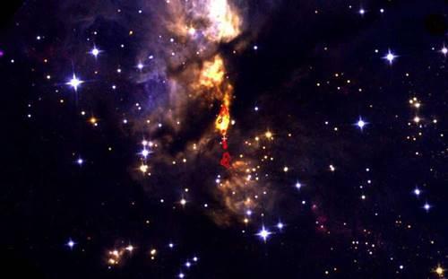 Ilustrasi Bintang di alam semesta kita