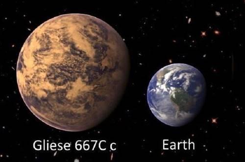 Gambar Planet Gliese 667Cc