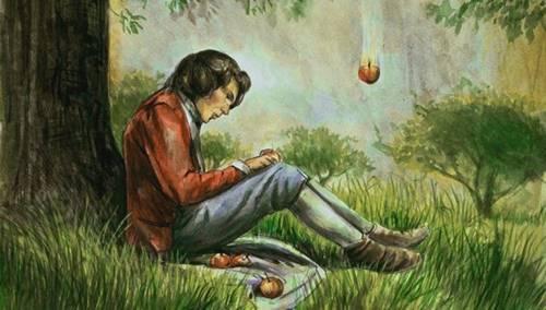 gambar ilustrasi Issac Newton merumuskan teori gravitasi