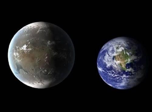 Planet Kepler 62f dibandingkan dengan Bumi