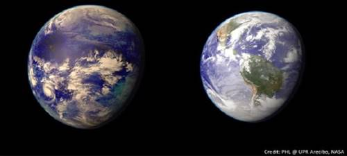 Planet Kepler 69c dibandingkan dengan Bumi