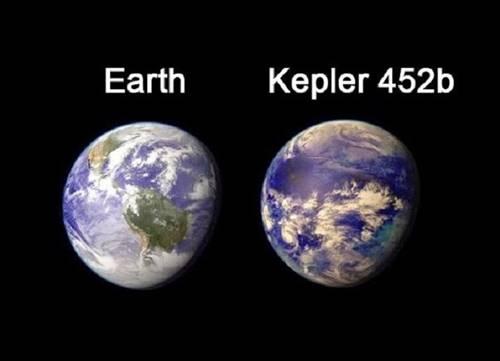 planet kepler 452b dibandingkan dengan Bumi