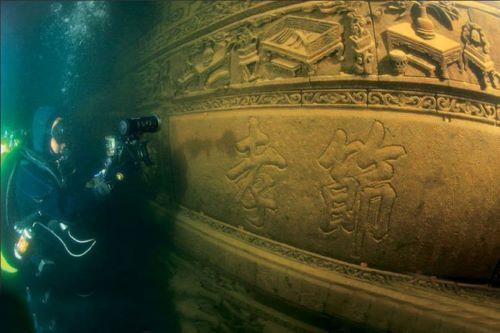 Kota Tua di Bawah Laut  di China - Keindahan bawah laut