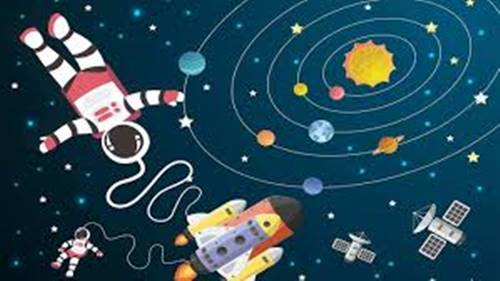 ilustrasi gambar luar angkasa juga ada kehidupan jasad renik