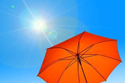 Ilustrasi sinar UV Matahari