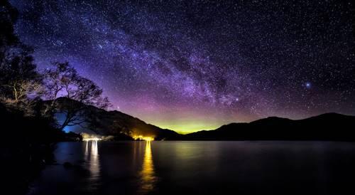 indahnya pemandangan malam Skotlandia