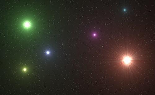 ilustrasi gambar Bintang tertua yang bercahaya di alam semesta