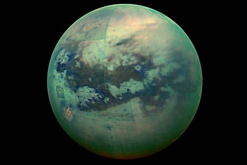 foto dari satelit Titan