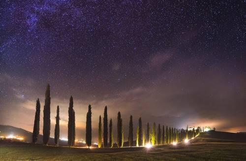 melihat bintang di Tuscany Italia