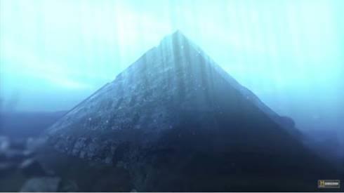 Struktur bangunan mirip piramida di Danau Fuxian