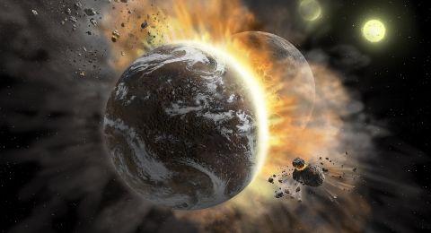 Tabrakan Antar Planet - Matahari Padam