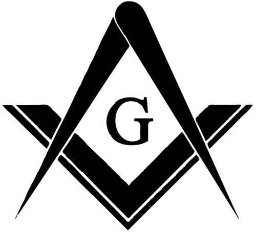 logo Freemasonry yang dianggap identik dengan piramida giza