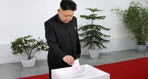pemimpin Korea Utara Kim Jung-on sedang di pemilu