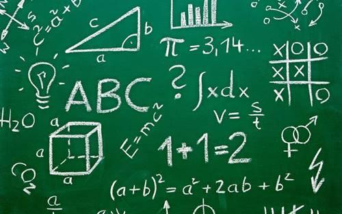 ilustrasi mata pelajaran Fisika dan matematika
