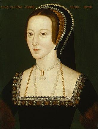 Anne Boleyn istri kedua raja henry VIII