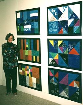 Anne Adams bersama lukisannya. (UCSF Memory and Aging Center)