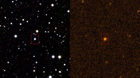 Bintang Tabby dalam pencitraan infrared dan ultraviolet. (Wikipedia)