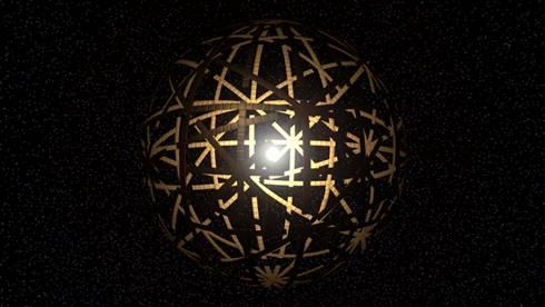 Ilustrasi Dyson Swarm Superstructure. (Wikipedia)