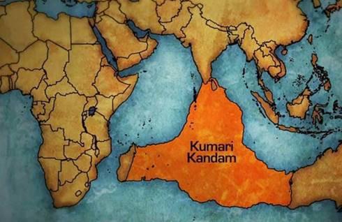 Peta Kumari Kandam, benua yang hilang