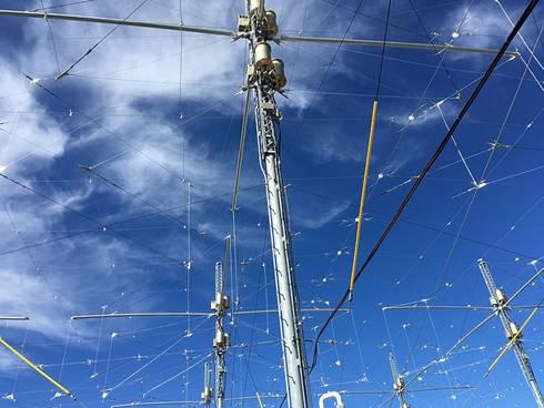 Salah satu antena dipol di HAARP