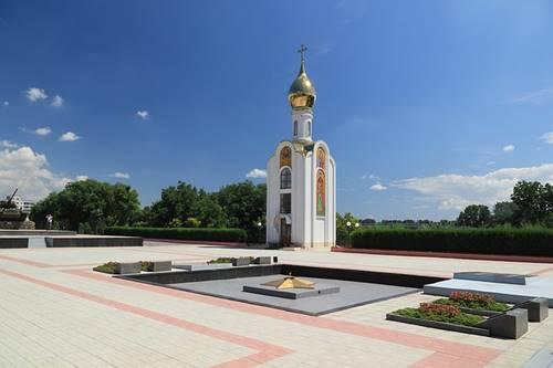 salah satu bangunan ikonik di Transnistria dekat Moldova