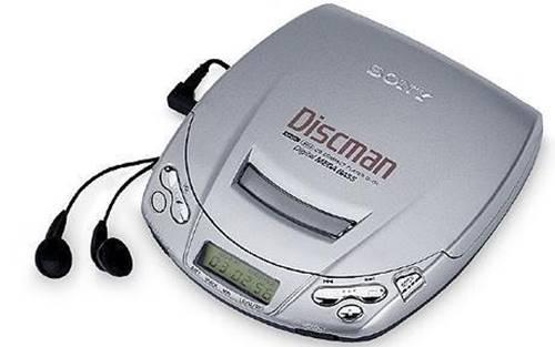 discman untuk memutar musik dengan format kaset CD