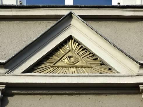 Simbol Illuminati pada bangunan sebuah gedung