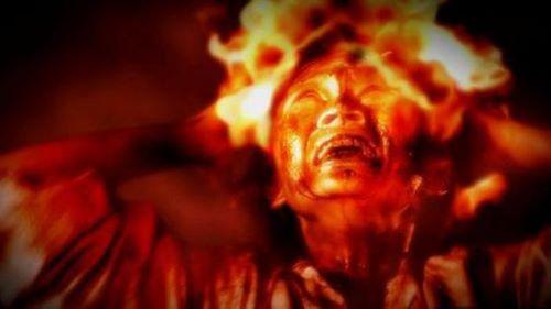 Terbakar hidup-hidup - Cara Kematian