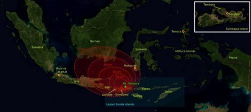 Peta Sebaran Abu Vulkanik