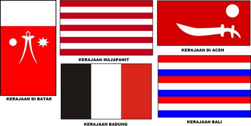Bendera Kerajaan-Kerajaan Di Nusantara