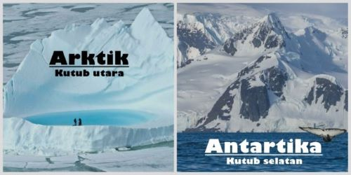 Nama Lain Kutub Utara dan Kutub Selatan