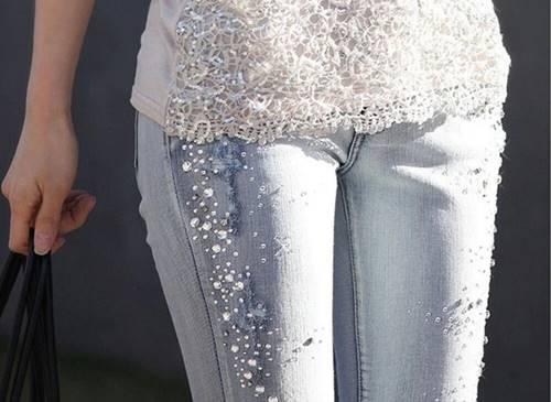 Jeans Escada ini menjadi barang termahal dengan diamond sebagai hiasannya