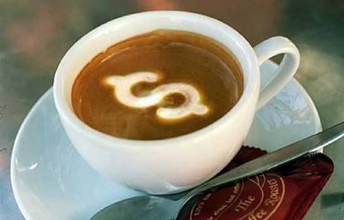 Ilustrasi kopi sebagai barang termahal di Amerika