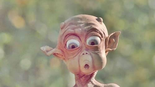 Ilustrasi wajah Alien yang sering ditampilkan
