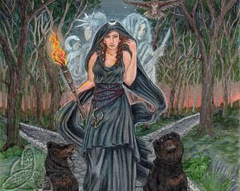 Dewa-dewi Yunani yang berperan dalam dunia sihir, dewi Hecate