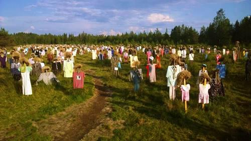 boneka sawah desa seram di Finlandia