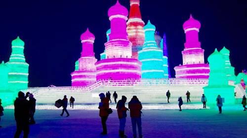 festival harbin yang berwarna-warni di Cina